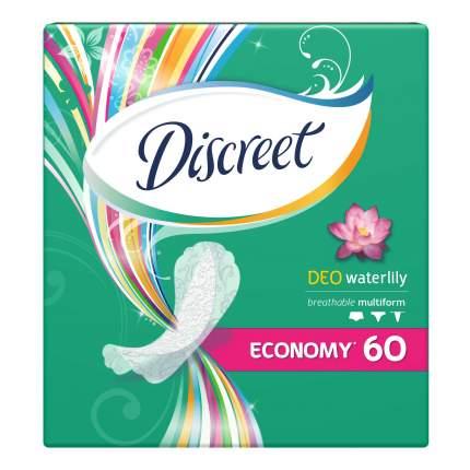 Прокладки Discreet ежедневные Deo Water Lily Multiform Trio 60шт