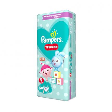 Подгузники-трусики Pampers Pants Малышарики Junior (12-17 кг), 50 шт.