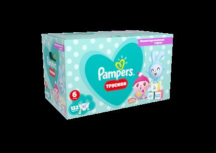 Подгузники-трусики Pampers Pants Малышарики Extra Large (15+ кг), 132 шт.