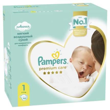 Подгузники Pampers Premium Care 1 (2-5 кг), 102 шт.