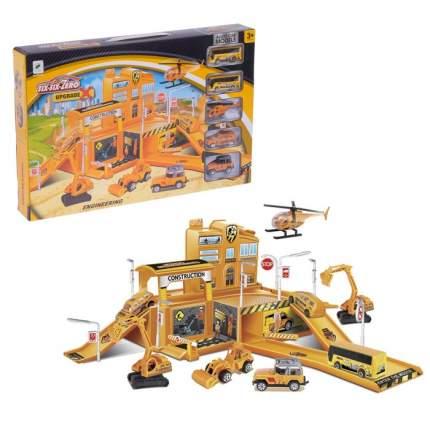 Парковка Строительство здания, 4 машины + 1 вертолет