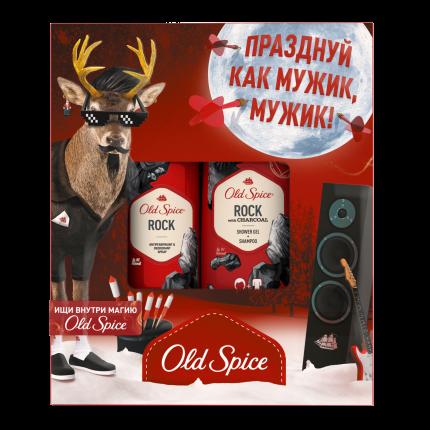 Подарочный набор Old Spice Rock. Дезодорант 150мл + Гель для душа и шампунь 2в1 250мл