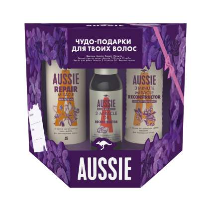 Набор AUSSIE Шмп 300мл+Бзм RepairMiracle+Масло д/волос 3 Miracle Oil Reconstructor 100мл