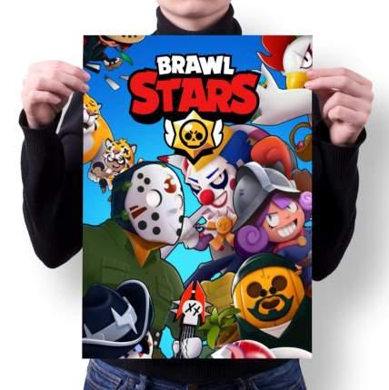 Плакат GOODbrelok BRAWL STARS 8 - А3