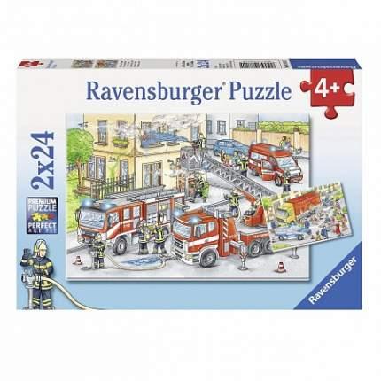Пазл Ravensburger Герои в действии 2 в 1, 2 x 24 деталей