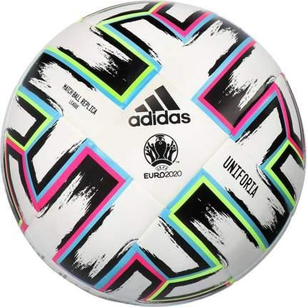 Футбольный мяч Adidas Euro 2020 Uniforia League №5 white/black/signal green/bright cyan