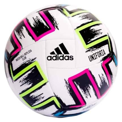 Футбольный мяч Adidas Uniforia Club №5 white/black/signal green/bright cyan