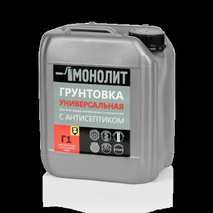 Грунтовка МОНОЛИТ Г 1-05 Универсальная с антисептиком, 5 кг