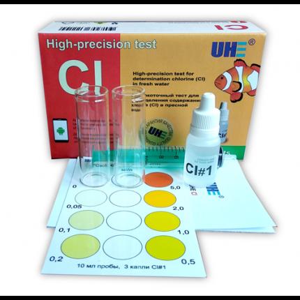 Тест для определения хлора в воде аквариумной воде UHE Cl test