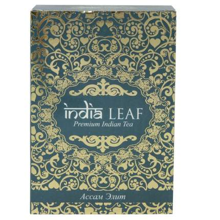"""Чай India leaf """"Ассам элит"""", черный среднелистовой, 100 гр"""