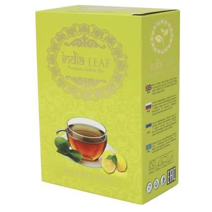 """Чай India leaf """"Черный с лимоном"""", среднелистовой с добавками, 100 гр"""