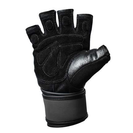 Перчатки атлетические Harbinger Training WristWrap, black/blue, 8/M