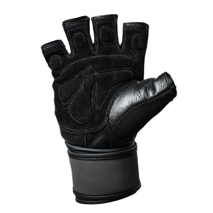 Перчатки атлетические Harbinger Training WristWrap, black/blue, 9/L/XL