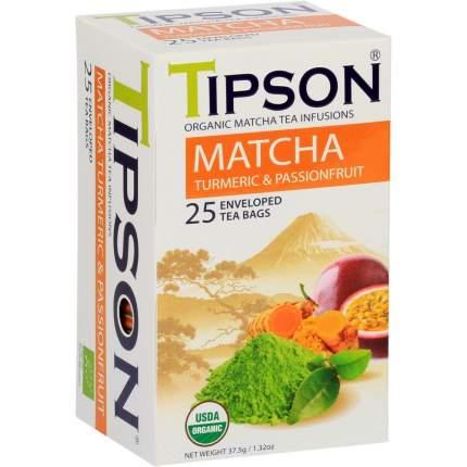 "Чай Tipson ""Матча куркума и маракуйя"", 25 пакетиков"