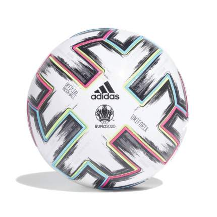 Футбольный мяч Adidas Euro 2020 Uniforia OMB №5 white/black/signal green/bright cyan