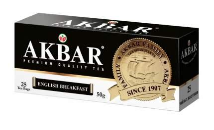 """Чай Akbar """"English Breakfast"""", черный, 25 пакетиков"""