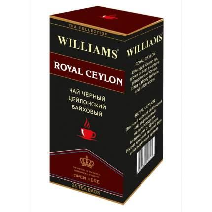 """Чай Williams """"Royal Ceylon"""", черный цейлонский байховый, 25 пакетиков"""