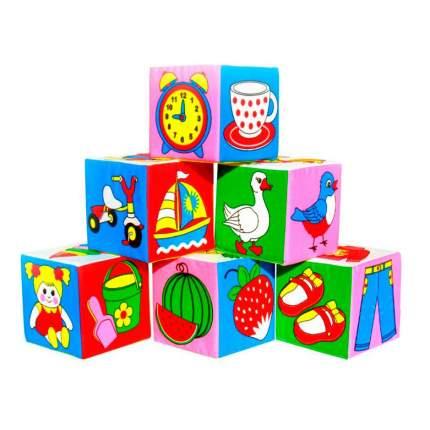 Детские кубики Мякиши Предметы 1