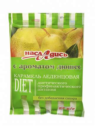 Карамель леденцовая Насладись без сахара дюшес 55 г