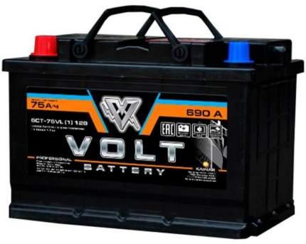 Автомобильный аккумулятор VOLT PRO 6СТ-75VL(1) 75 Ач (A/h) прямая полярность - VL7511