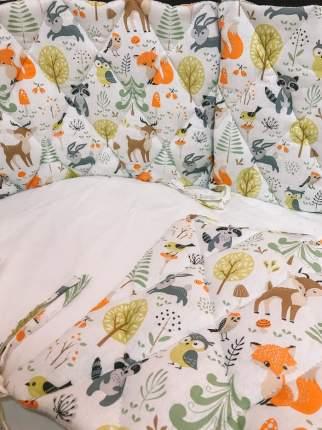 Бортики в кроватку на 4 стороны двухсторонние KERTEX MEGICAL FOREST 6 шт.