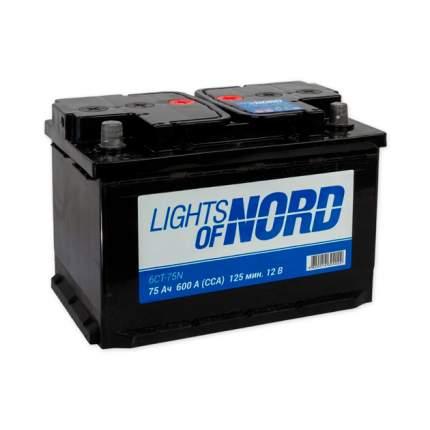 Аккумулятор Lights Of Nord 75 А/Ч Прямая En600 А 277x175x190 6ct-75n LIGHTS OF NORD арт. 6