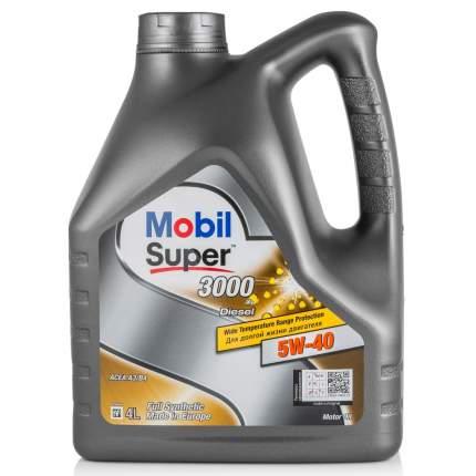 Моторное масло Mobil Super 3000 X1 Diesel 5W-40 4л