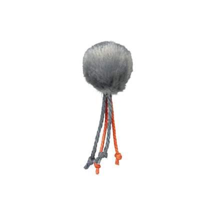 Игрушка для кошек TRIXIE Меховой мяч с перьями, в ассортименте, диаметр 4 см