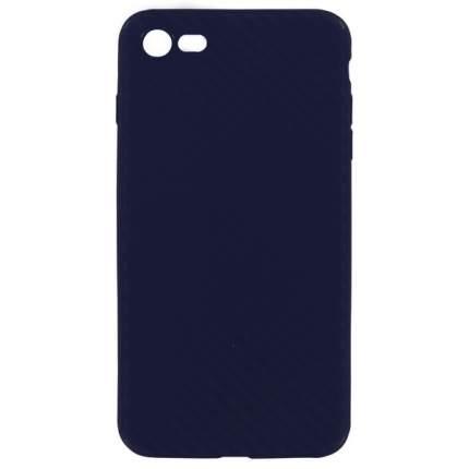 Чехол Krutoff Silicone carbon для iPhone 7/8 Blue