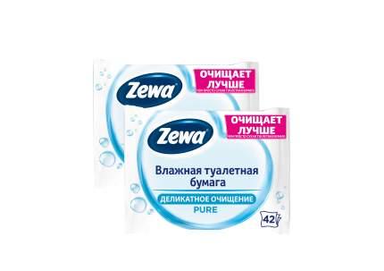 Влажная туалетная бумага ЗЕВА Пьюр 2 уп