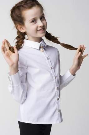 Рубашка Маленькая Леди для девочек, цв. белый, р-р 164
