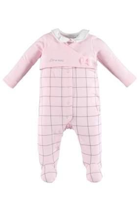 Комбинезон iDO для девочек, цв. розовый, р-р 62