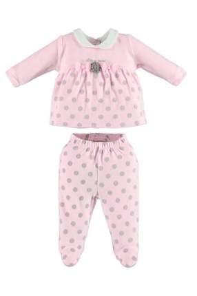 Комплект толстовка и брюки iDO для девочек, цв. розовый, р-р 62
