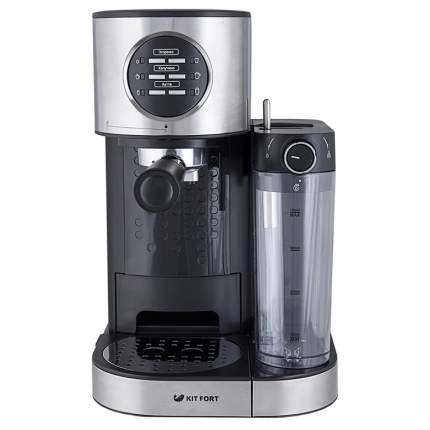 Рожковая кофеварка Kitfort KT-703 Silver/Black