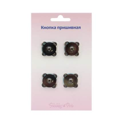 Кнопка магнитная, пришивная, 18 мм, цвет: черный никель, 4 штуки, арт. 62146