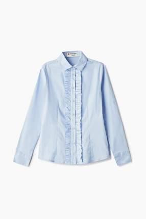 Блузка Button Blue для девочек, цв. голубой, р-р 140