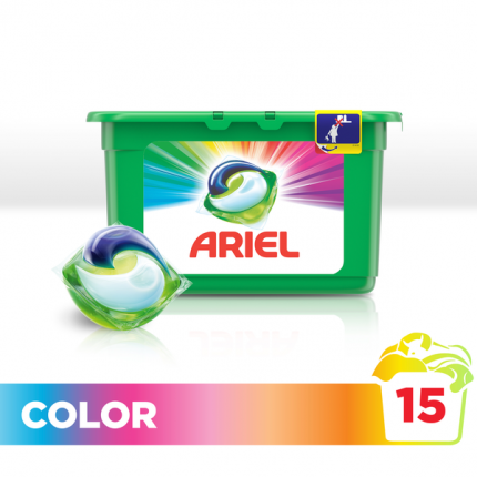 Капсулы для стирки Ariel liquid capsules color&style 15 штук