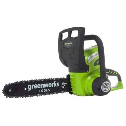 Аккумуляторная цепная пила Greenworks G40CS30 20117 без АКБ и ЗУ 30 см