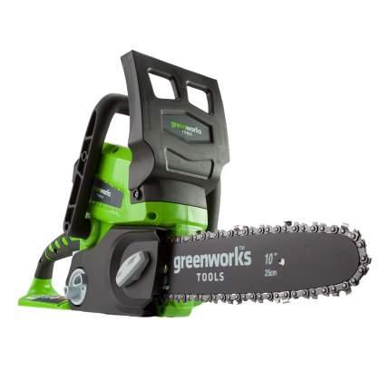 Аккумуляторная цепная пила Greenworks G24CS25K2 2000007VA АКБ и ЗУ комплекте 25 см