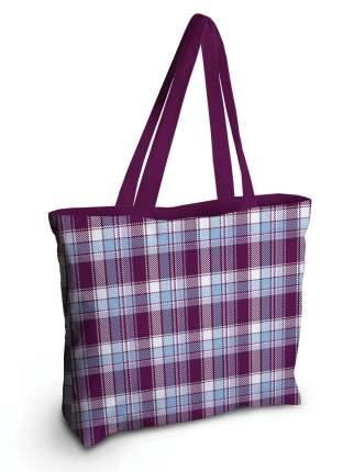 Спортивная сумка JoyArty bsz_29645 фиолетово-голубая клетка
