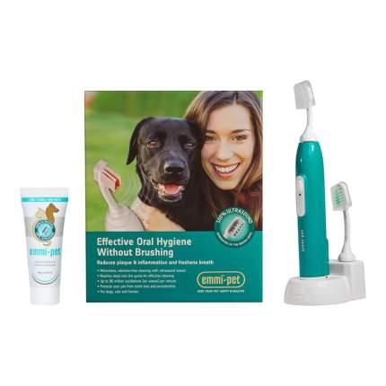 Ультразвуковая зубная щетка для собак, для кошек Еmmi-pet , зеленый, 20 см