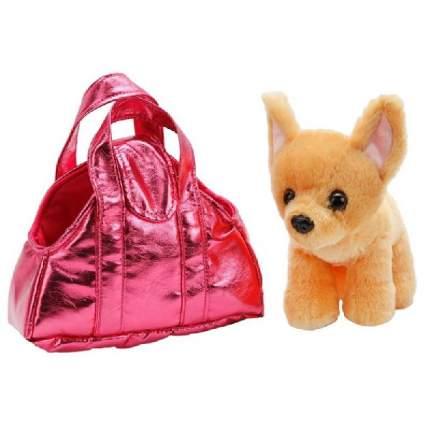 """Игрушка мягкая """"Собака Чихуахуа"""", в сумочке, 18 см"""