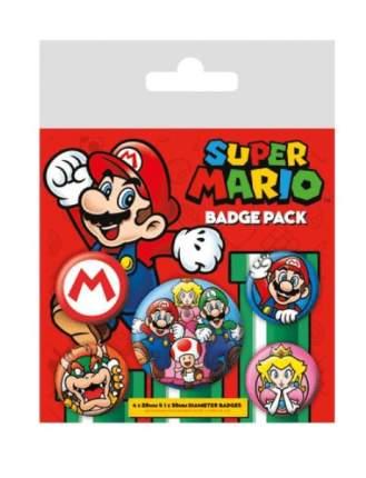 Значки Pyramid: Nintendo: Super Mario набор 5 шт. BP80440
