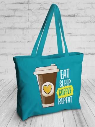Спортивная сумка JoyArty bsz_77344 ешь, спи, кофе, повтори