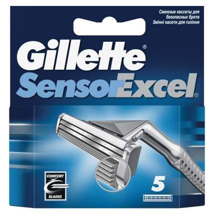 Сменные кассеты Gillette Sensor excel 5 шт