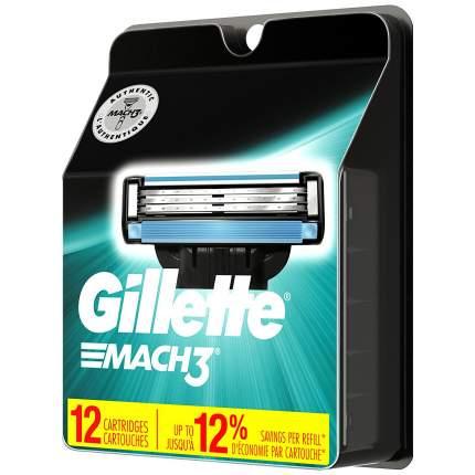 Сменные кассеты Gillette Mach3 12 шт