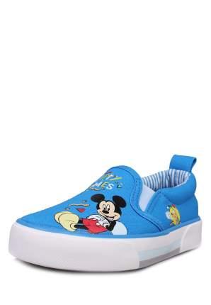 Кеды для мальчиков Mickey Mouse, цв. светло-голубой, р-р 21