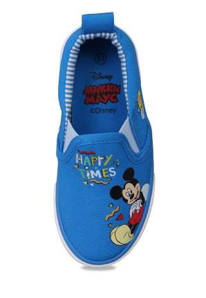 Кеды для мальчиков Mickey Mouse, цв. светло-голубой, р-р 24