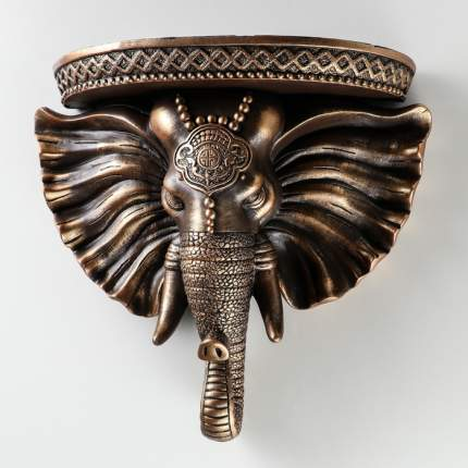 """Консоль """"Индийский слон"""", цвет коричнево-золотой, 36 см"""