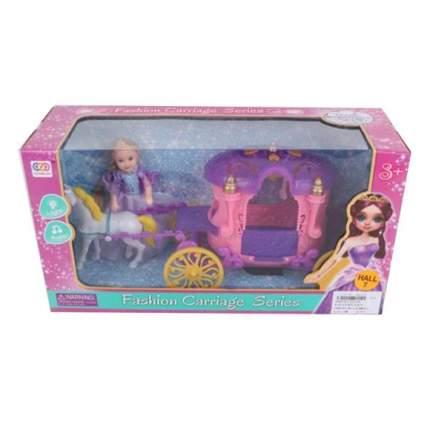 Карета в наборе с куколкой и лошадкой Наша Игрушка SS032A